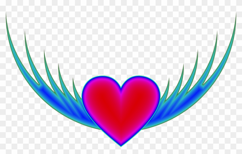 Clipart - Flying Heart #87133