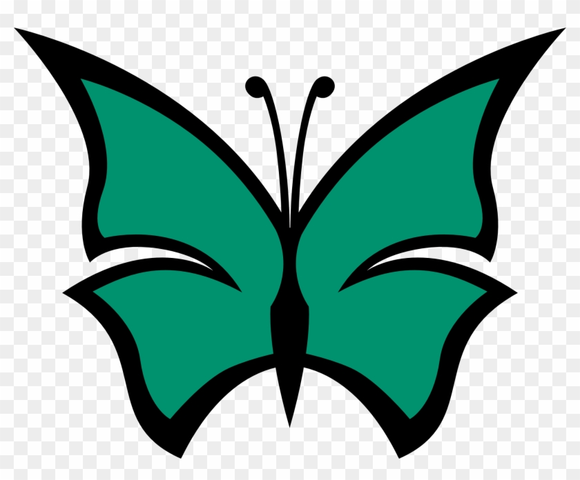 Butterfly Color Colour Irish Green Peace Ireland Ireland - Butterfly Clip Art With Single Colour #87213