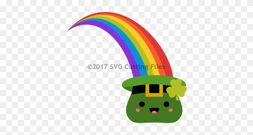 Kawaii Rainbow St Pat Hat - Rainbow St Patrick's Day #87223