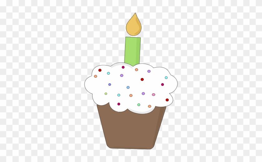 Fun Birthday Cupcake Clip Art Image Chocolate Birthday - Birthday Cupcake Clipart #87340