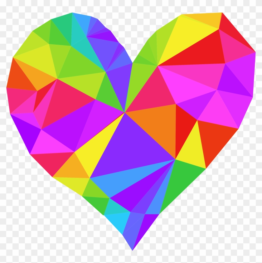 Clipart - Low Poly Heart Png #87436
