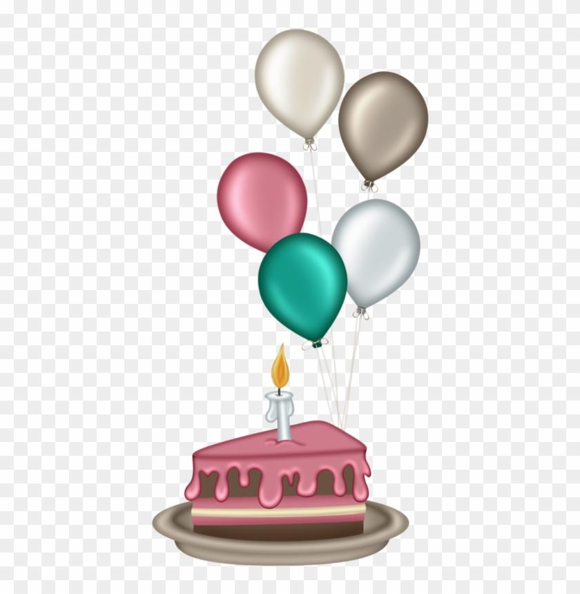 **✿*velitas*✿** - Bolo E Balões De Aniversário #87438