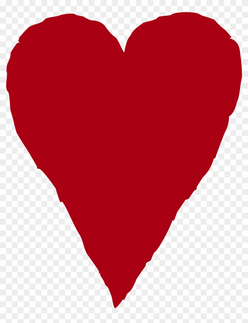 Primitive Heart With Arrow Clipart - Red Heart Illustration #87443