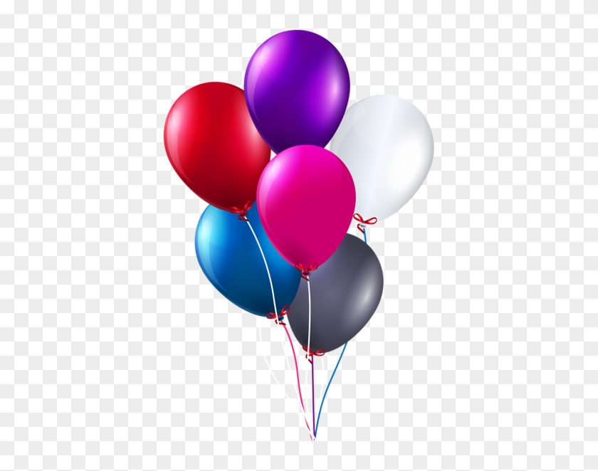 Colorful Bunch Of Balloons Png Clipart Image - Happy Birthday Balloons Png #87449