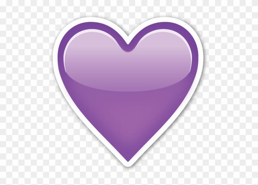 Hearts ‿✿⁀♡♥♡❤ - Purple Heart Emoji Png #87500