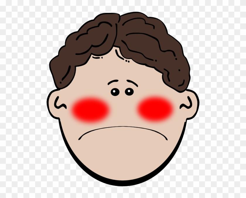 Sick Clip Art At Clker - Cartoon Face With Mustache #87508