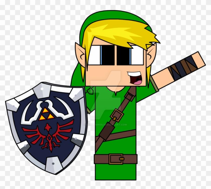 Minecraft Clipart Zelda - Cartoon De Minecraft Do Zelda #87525