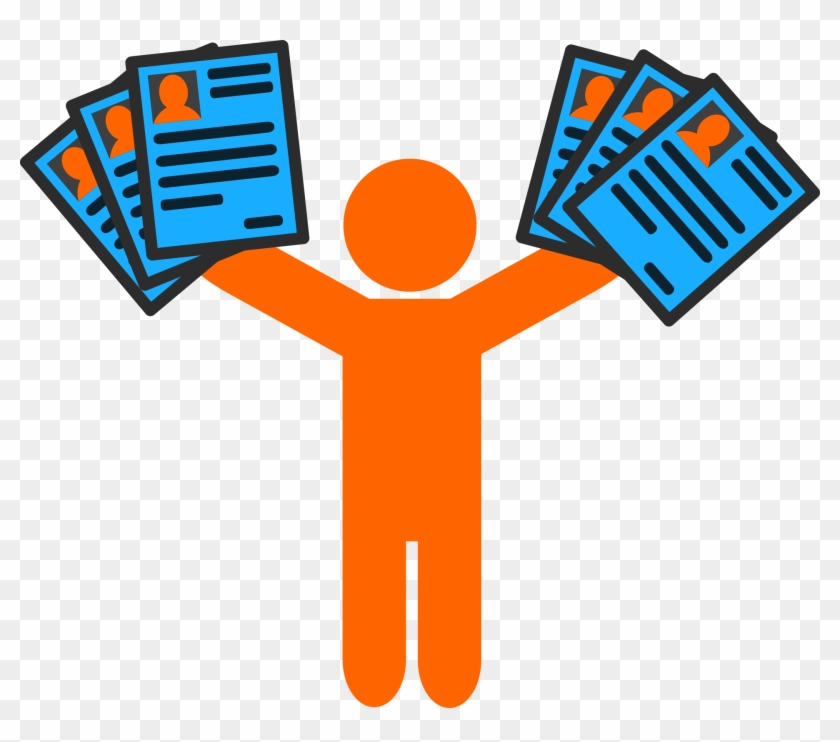 Creating A Resume And A Life To Get That Job - Handing Out Flyers Clipart #87538