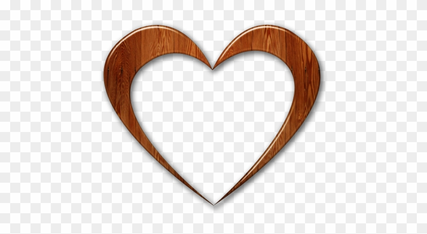 Clipart Transparent Background Wooden Heart - Wooden Heart Transparent Background #87544