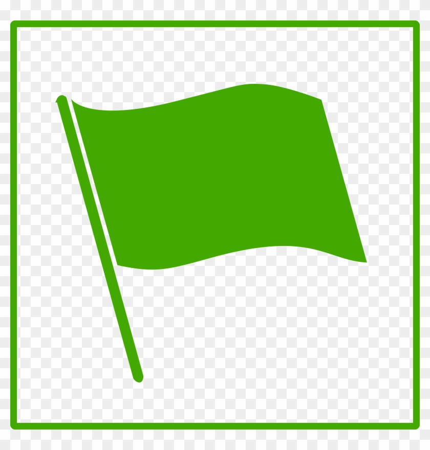 Green Flag Clipart #87551