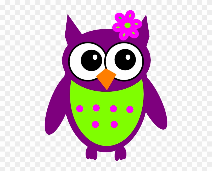 Clipart Info - Purple And Green Owl #87562