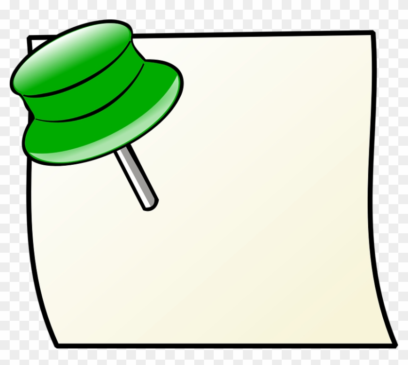 Paper, Office, Pin, Reminder, Board, Post - Pin Clip Art #87573