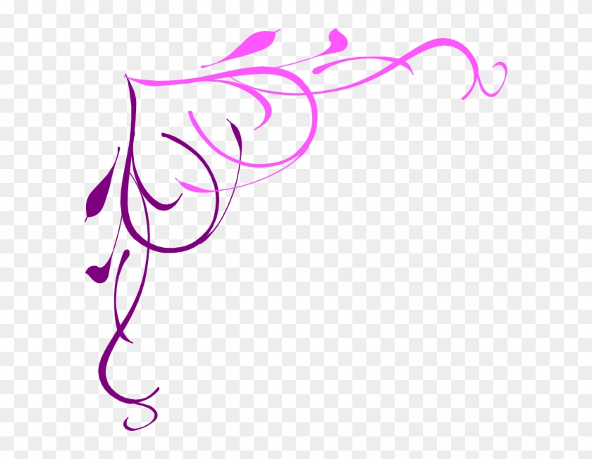 Heart Pink Purple Clip Art - Page Borders Png #87618