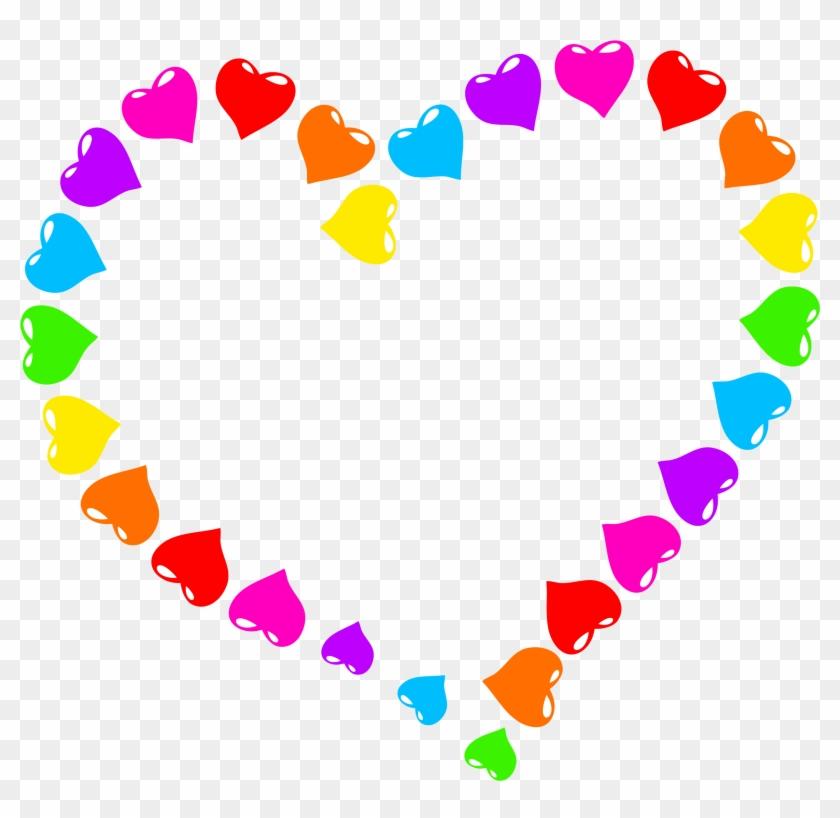 Big Image - Rainbow Heart Clipart #87635