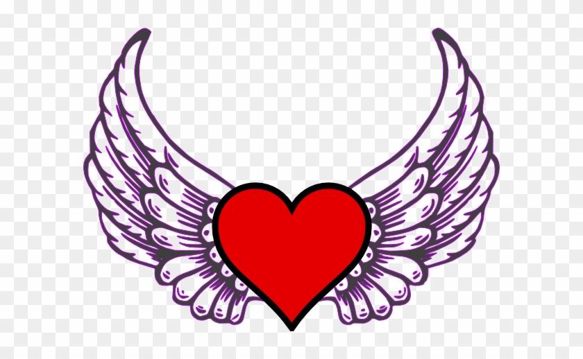 Heart - Cartoon Hearts With Wings #87660