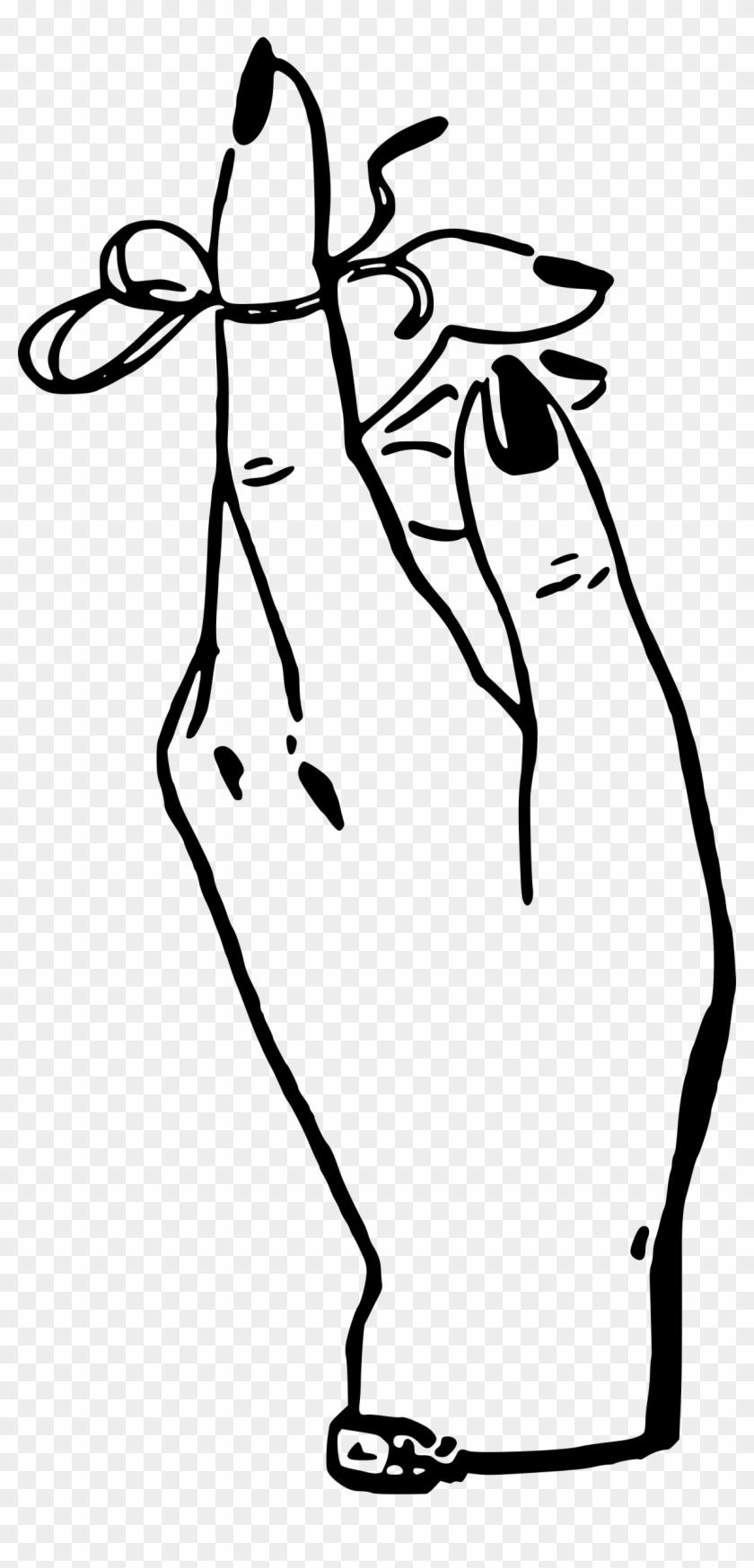 String Around Finger Clip Art #87676