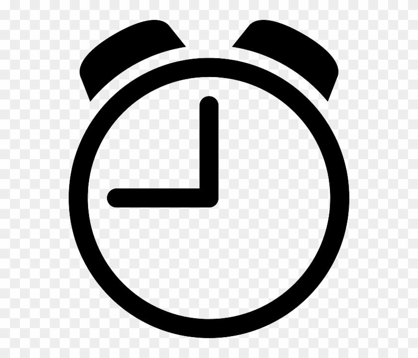 Clock Icon - Clock Clipart Black And White #87679