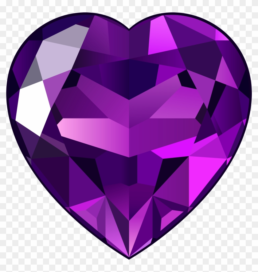 Purple Heart Clipart Clipart Download - Amethyst Heart Png #87721