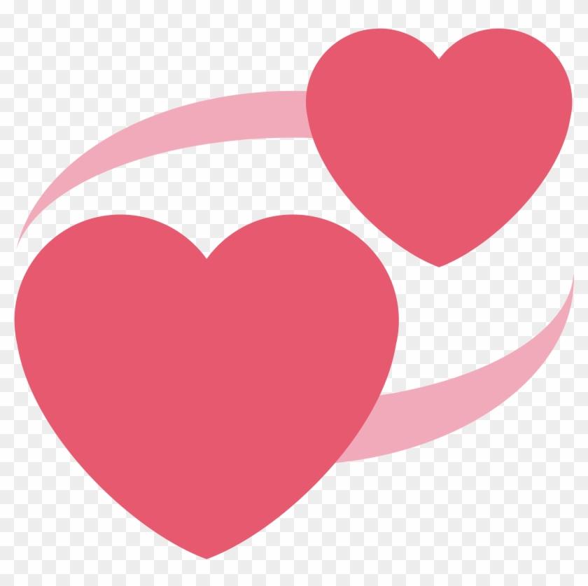 Revolving Hearts - Twitter Heart Emoji Png #87719