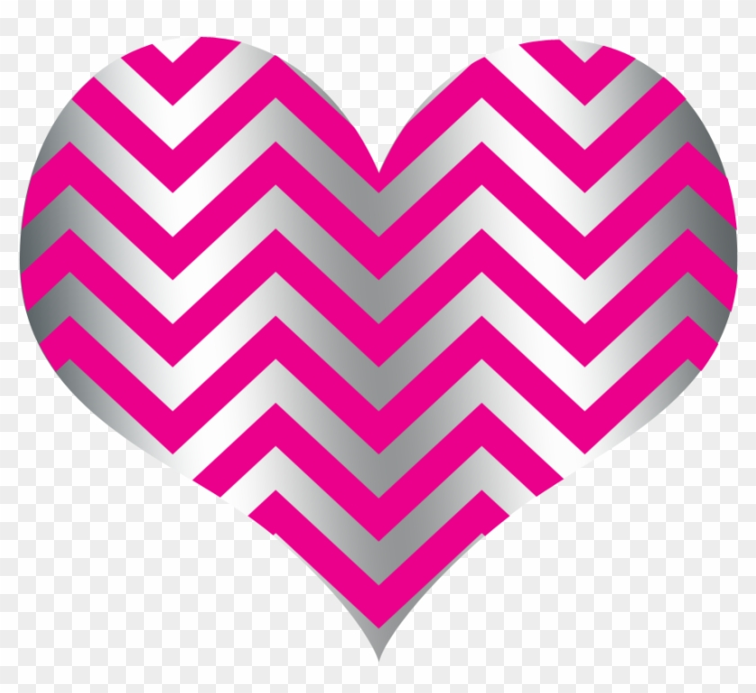 2017 Chevron Heart Hot Pink Silver 140kb - Owls Are Not What They Seem #87731