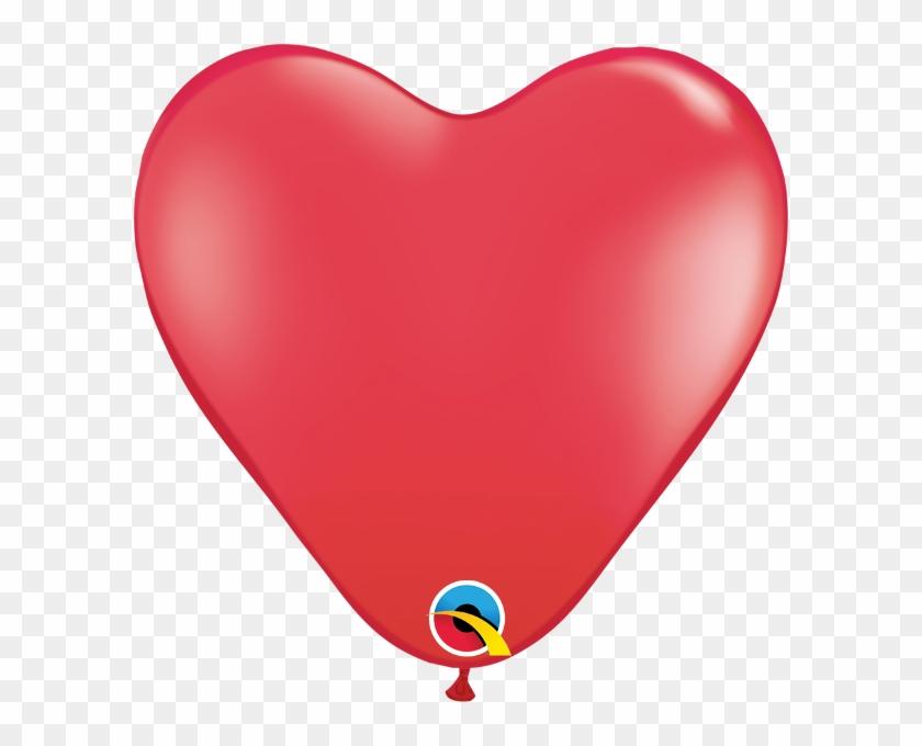 "15"" Heart Latex Balloons - Big Red Heart Balloon Transparent #87763"
