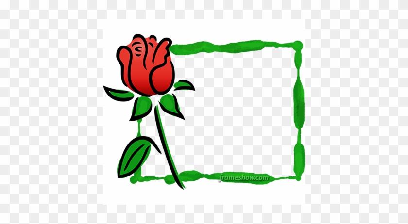 Red Rose Photo Frame - Frame #87833