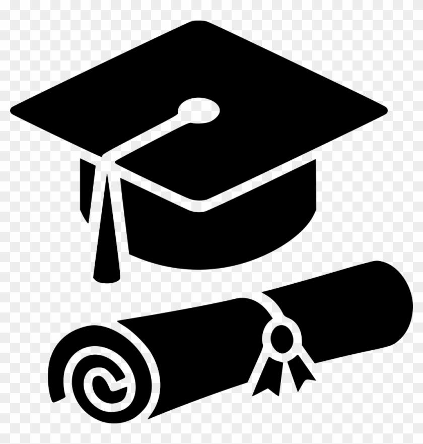 Graduation Cap Diploma Svg Png Icon Free Download - Graduation Cap And Diploma Icon #87871