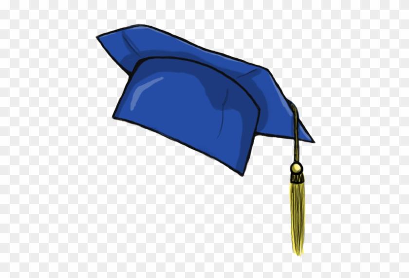 Graduation Hat Flying Graduation Caps Clip Art Graduation - Blue Graduation Cap Clipart #87879