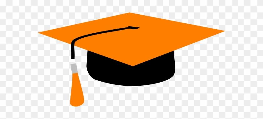 Orange Graduation Cap Clipart - Orange And Black Graduation Cap #87909