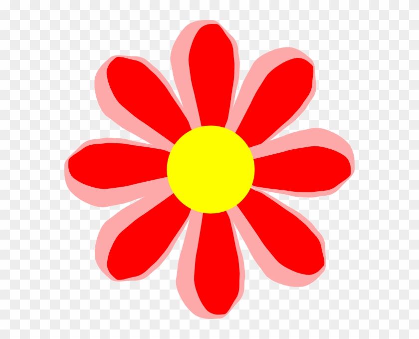 Red Flower Clipart Cute Cartoon Pencil And In Color - Flower Cartoon Png #88081