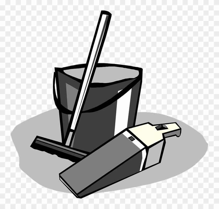Cleaning Supplies Clip Art Free Black And White #88084