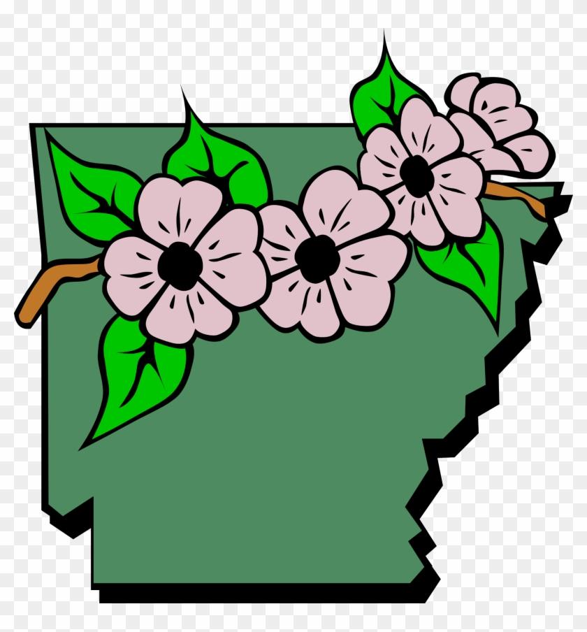 Arkansas State Flower Clipart - Arkansas State Flower Clip Art #88096