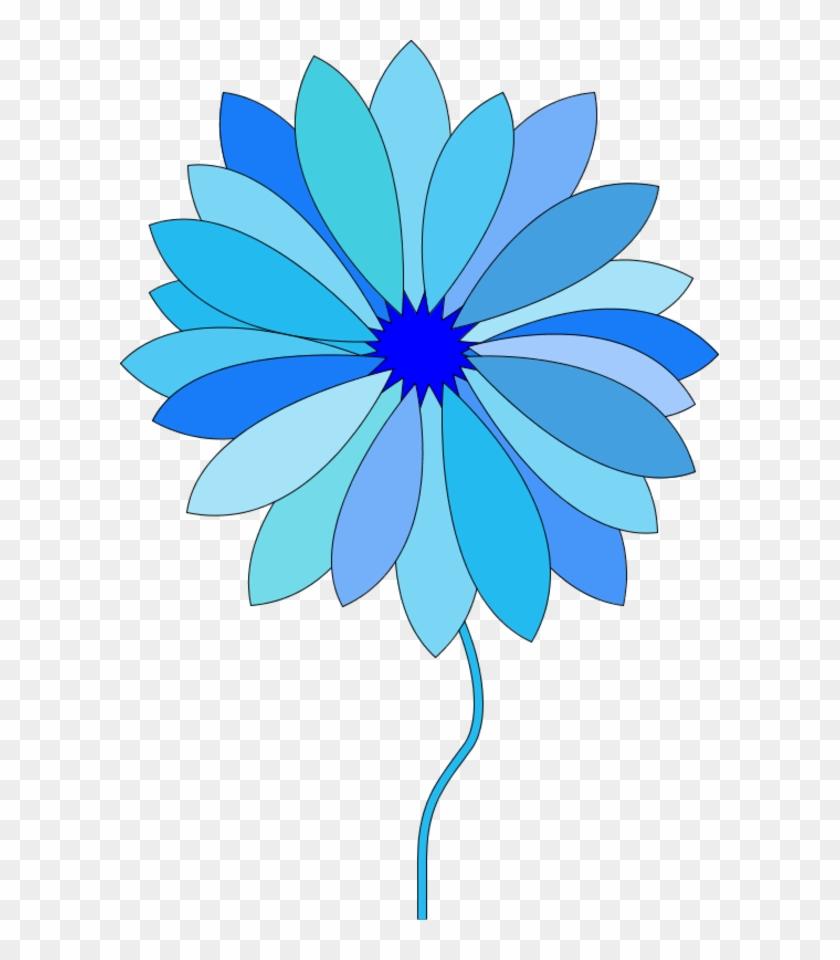 Free Cartoon Flower Pictures Free Clip Art Free Clip - Blue Cartoon Flowers #88116