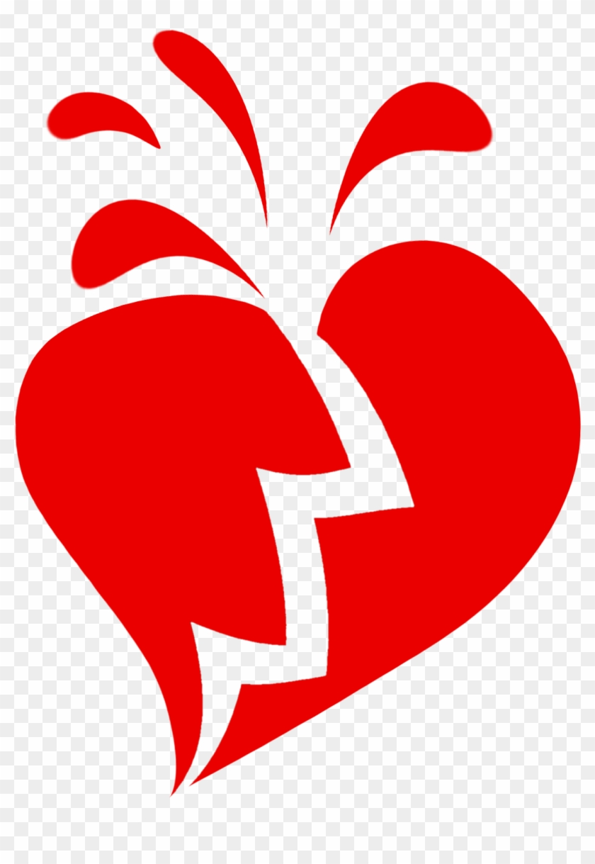 With Broken Heart Clipart - Broken Heart Transparent Background #88126