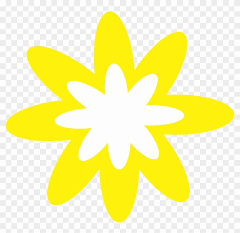 Blue Burst Flower Clipart - Yellow Flower Clip Art #88185