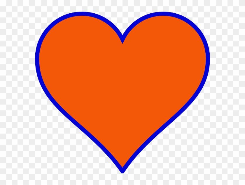 Heart Images Clip Art - Orange And Blue Heart #88254