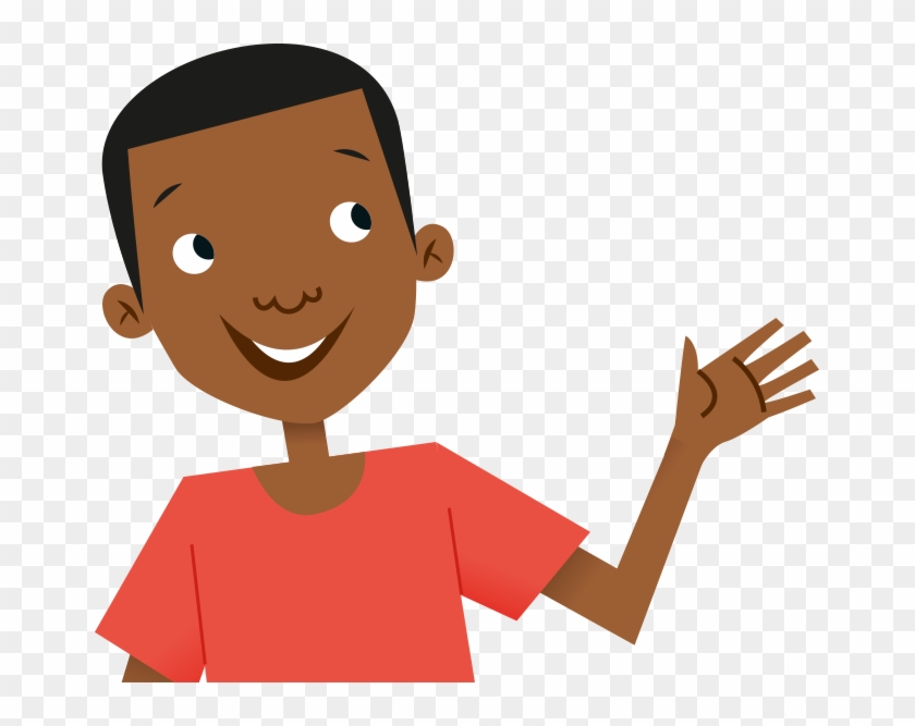And Some Live In Very Big Countries Like India In Asia - Child Waving Hello Clipart #88286