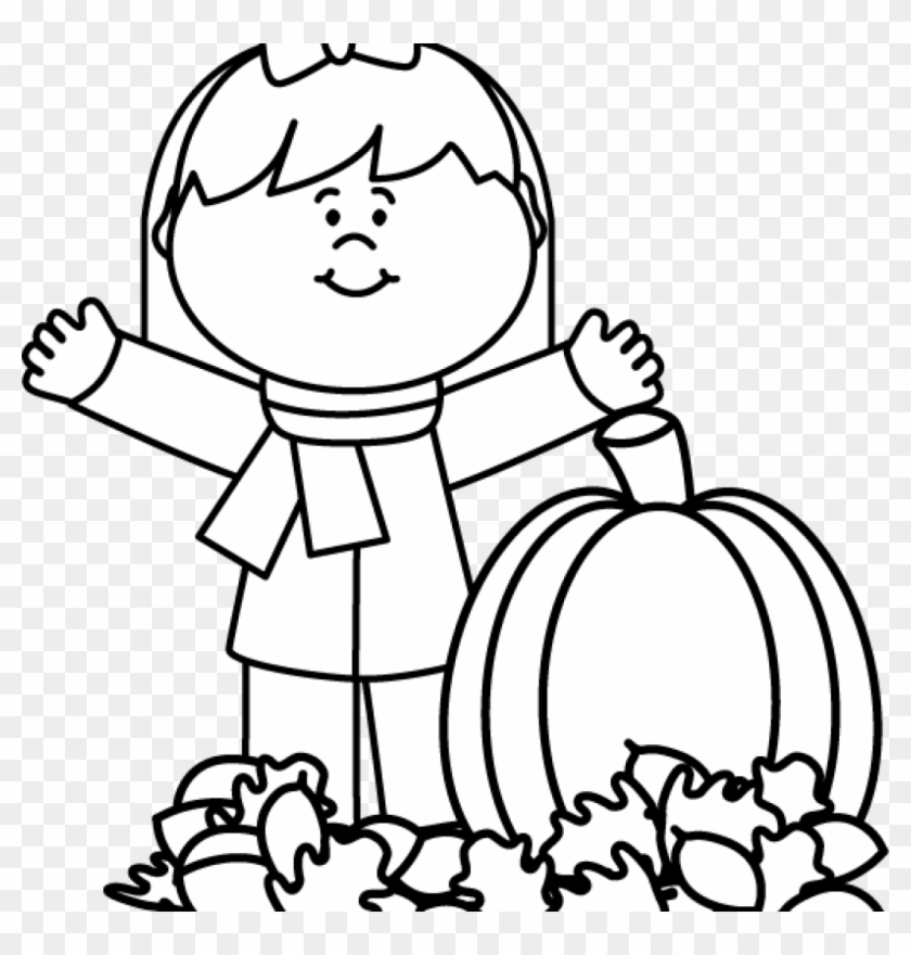 Fall Clipart Black And White Black And White Autumn - Following Directions Coloring Page #88320