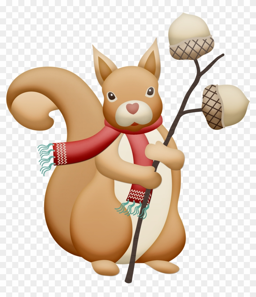 Christmas, Autumn, Fall Squirrel Clip Art - Animals In Fall Clip Art #88368
