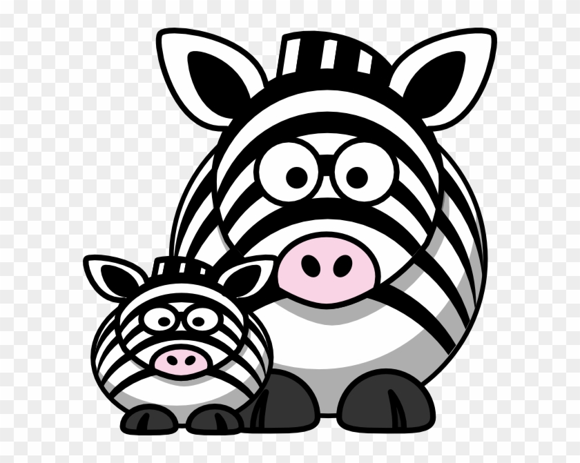 Baby Zebra And Mom Clipart #88430