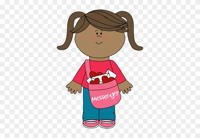 Valentine - Happy Cartoon Girl Face #88508