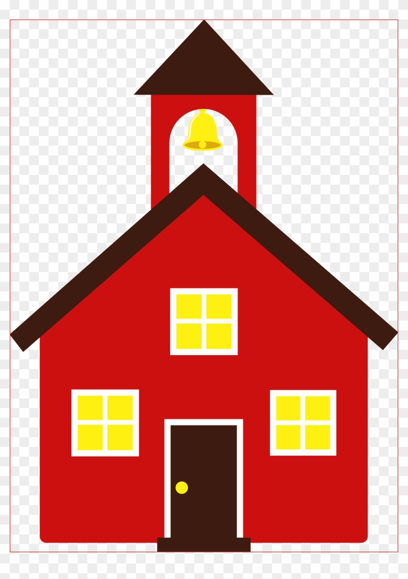 School House Clipart Free - Little Red School House Clip Art #88584