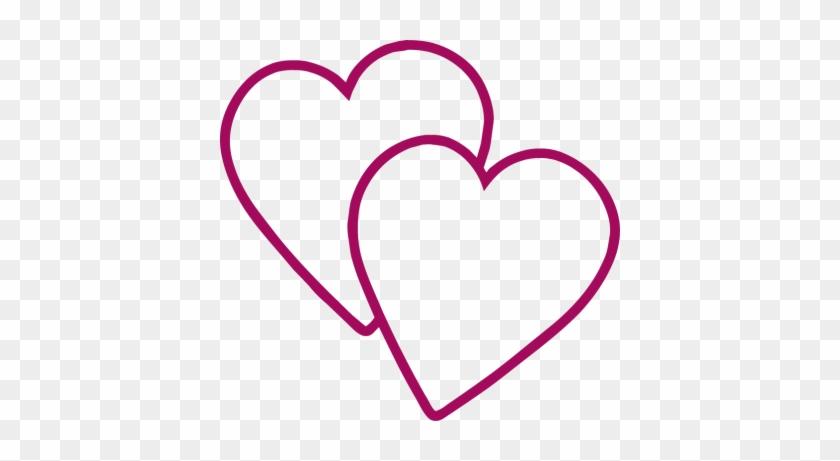 New Double Heart Clipart Simple Double Heart Free Clip - Пнг Гифка Сердечко #88723
