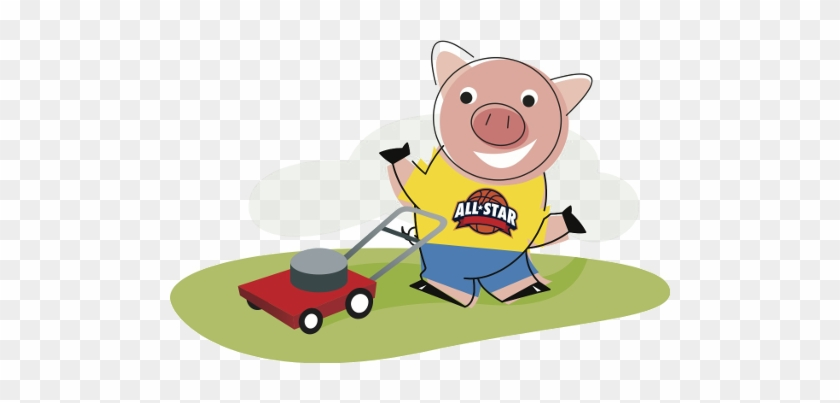 Piggy Mowing The Lawn - Bank #88744