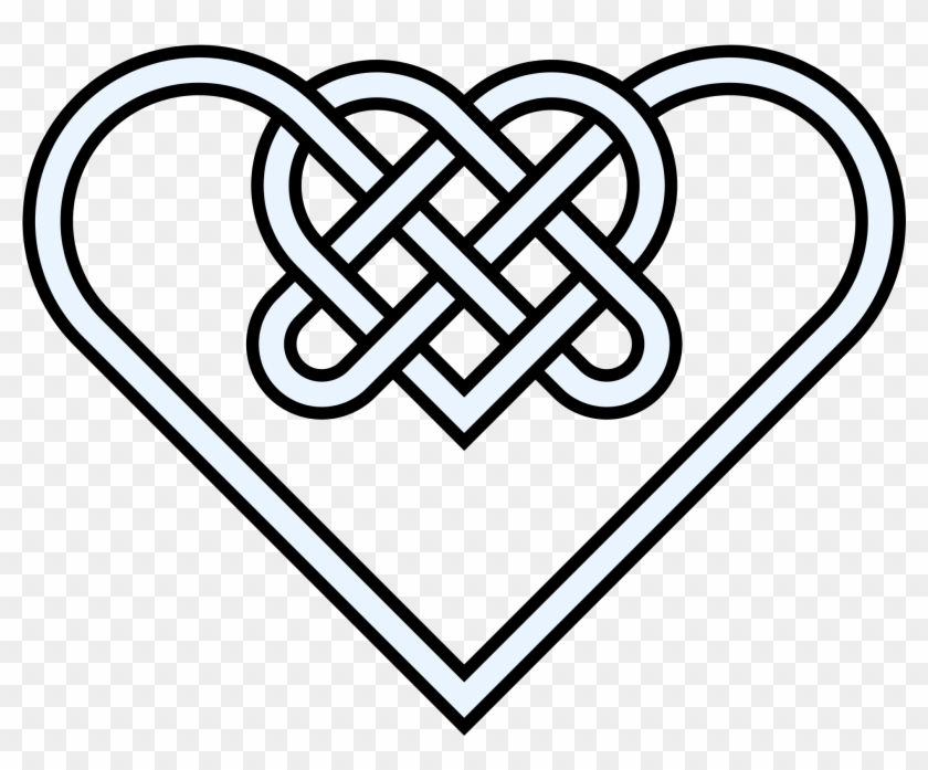 Double Heart Knot 10crossings - Celtic Symbol For Strength #88811