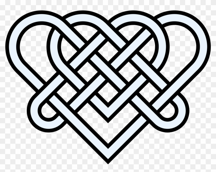 Double Heart Knot 14crossings - Celtic Symbol For Strength #88830