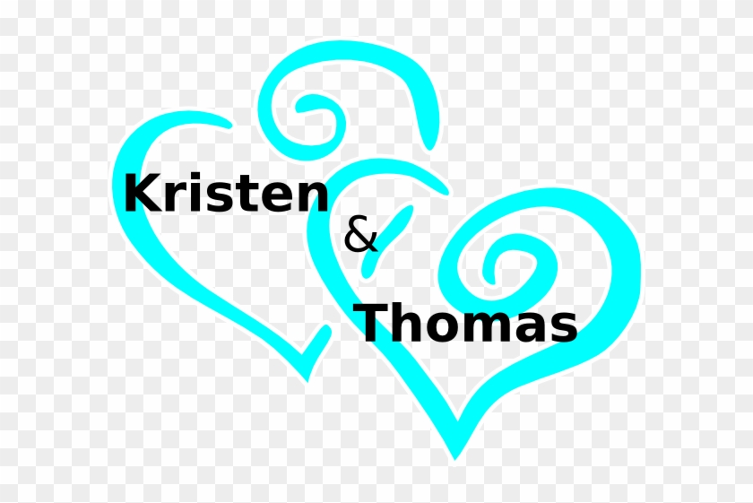 Best Of Two Hearts Clipart Wedding - Blue Wedding Heart Clipart #88896