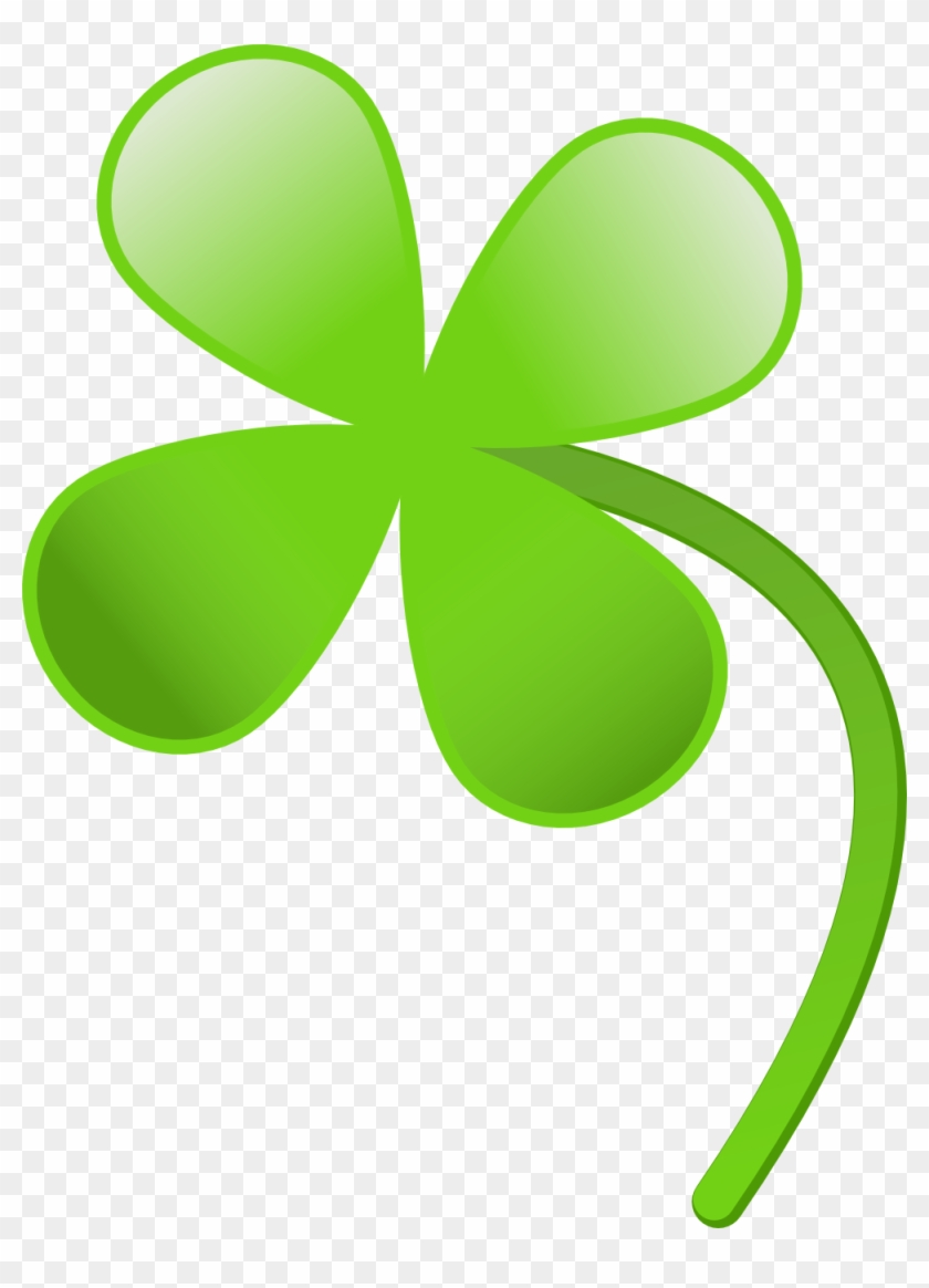 Rg 1 24 Four Leaves Clover Wall Paper Saint Patricks - Four Leaf Clover Clipart #88933