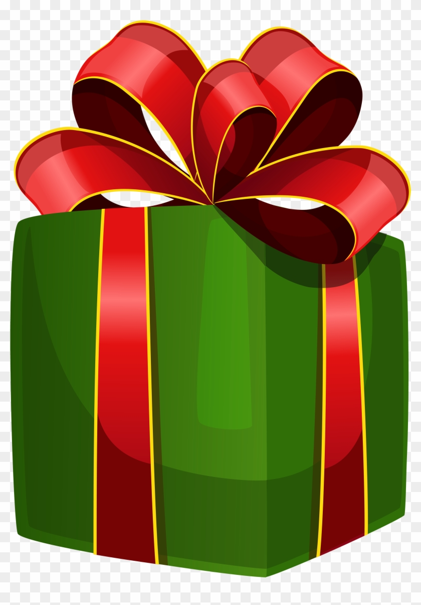 Green Gift Box Png Clipart - Presente Png #88949