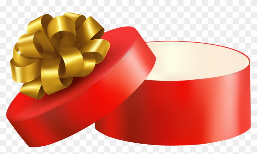 Red Open Gift Png Clipart - Clip Art Open Present #89000